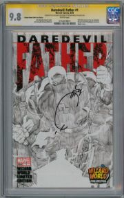 Daredevil Father #1 Wizard World Sketch Variant CGC 9.8 Signature Series Signed Joe Quesada Marvel comic book